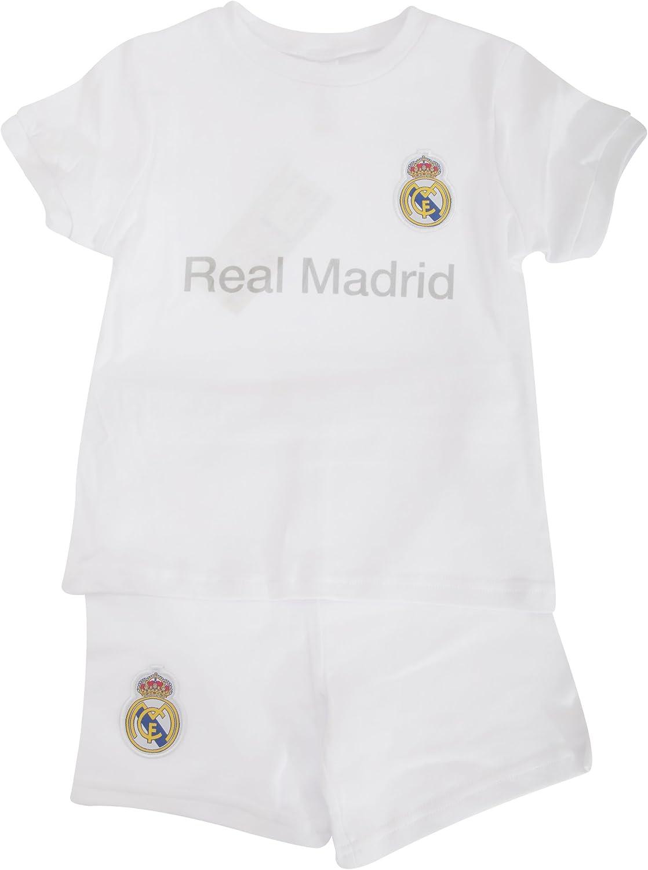 Real Madrid CF - Conjunto de pantalón Corto y Camiseta de Manga ...