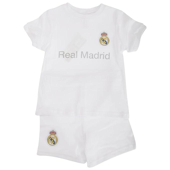 7d9aeedea22 Real Madrid CF - Conjunto de pantalón Corto y Camiseta de Manga Corta para  bebé: Amazon.es: Ropa y accesorios