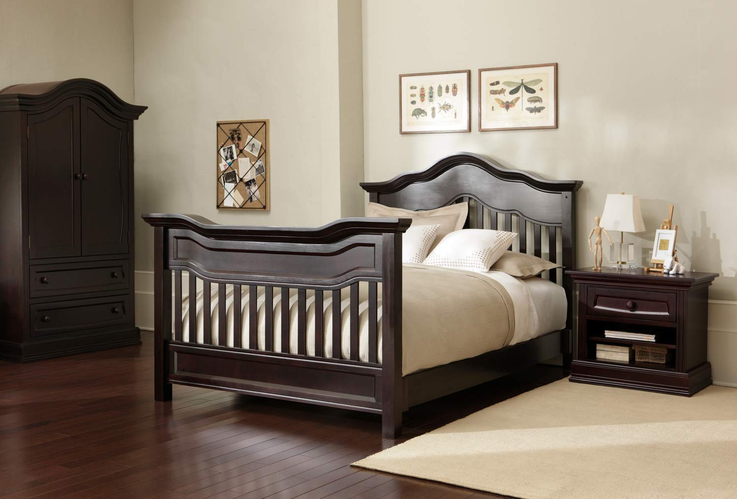 Full Size Conversion Kit Bed Rails for Baby Appleseed Beaumont, Chelmsford, Davenport, Kennedy, Millbury, Stratford Cribs (Espresso) by CC KITS (Image #7)