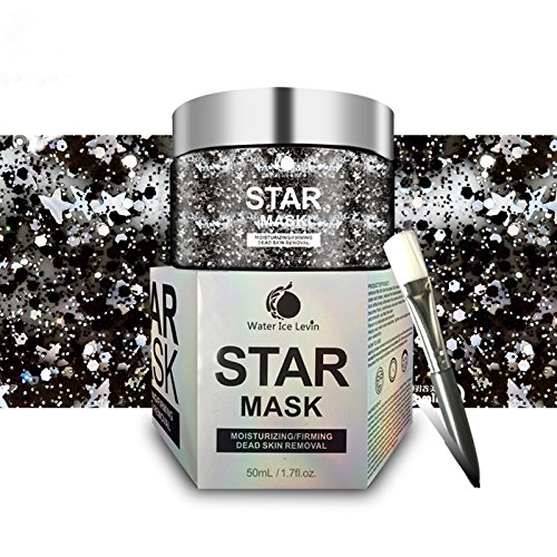 Peel Off Face Mask everydaynice Star Mask Deep Cleansing Glittering Face Mask,Moisturizing Deep Pore Cleanse for Acne, Oil Control Anti-Aging Wrinkle Reduction (Small Star Face)