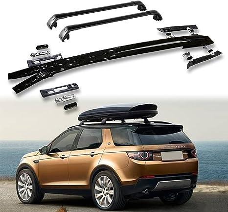 Portaequipajes de 4 piezas para techo de Land Rover New Discovery Sport 2015-2020: Amazon.es: Coche y moto