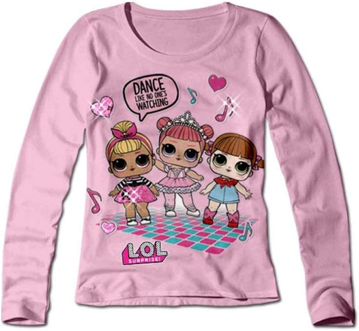 LOL SURPRISE T-Shirt 20756 Bambina in Cotone bielastico Girocollo Natale 2018