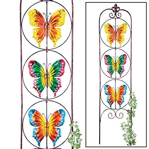 Spinning Butterflies Trellis Garden Decor Yard Stake