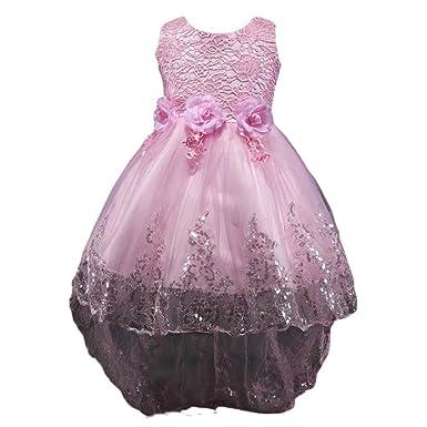 NiSeng NiSeng Prinzessin Kleid Blumenmädchenkleid Mädchen Tüll ...