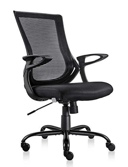 Tremendous Mdl Furniture Mesh Office Chair Mid Back Desk Chair With Comfortable Armrest Height Adjustable 300Lb Thick Padding Mesh Chair Black Green Ibusinesslaw Wood Chair Design Ideas Ibusinesslaworg