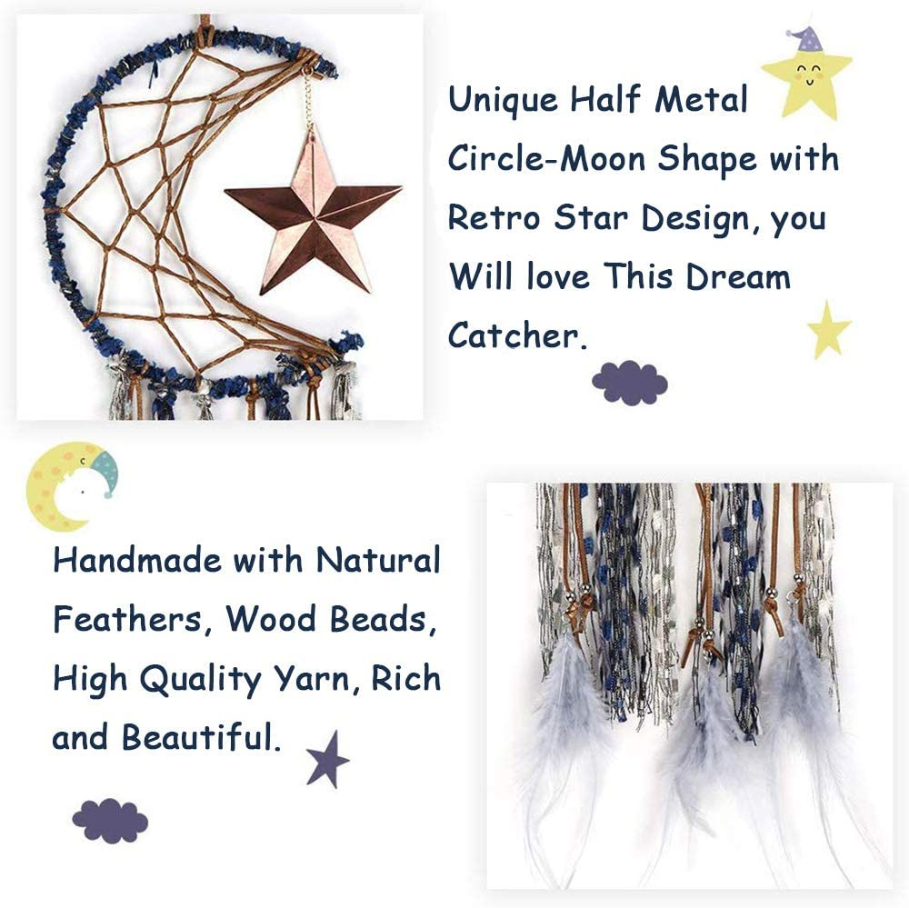 GOTONE 2 Pack Unicorn Dream Catcher for Kids Colorful Feather Tassels Flower Handmade Dream Catchers for Girls Kids Nursery Bedroom Wall Hanging Decoration Blessing Gift
