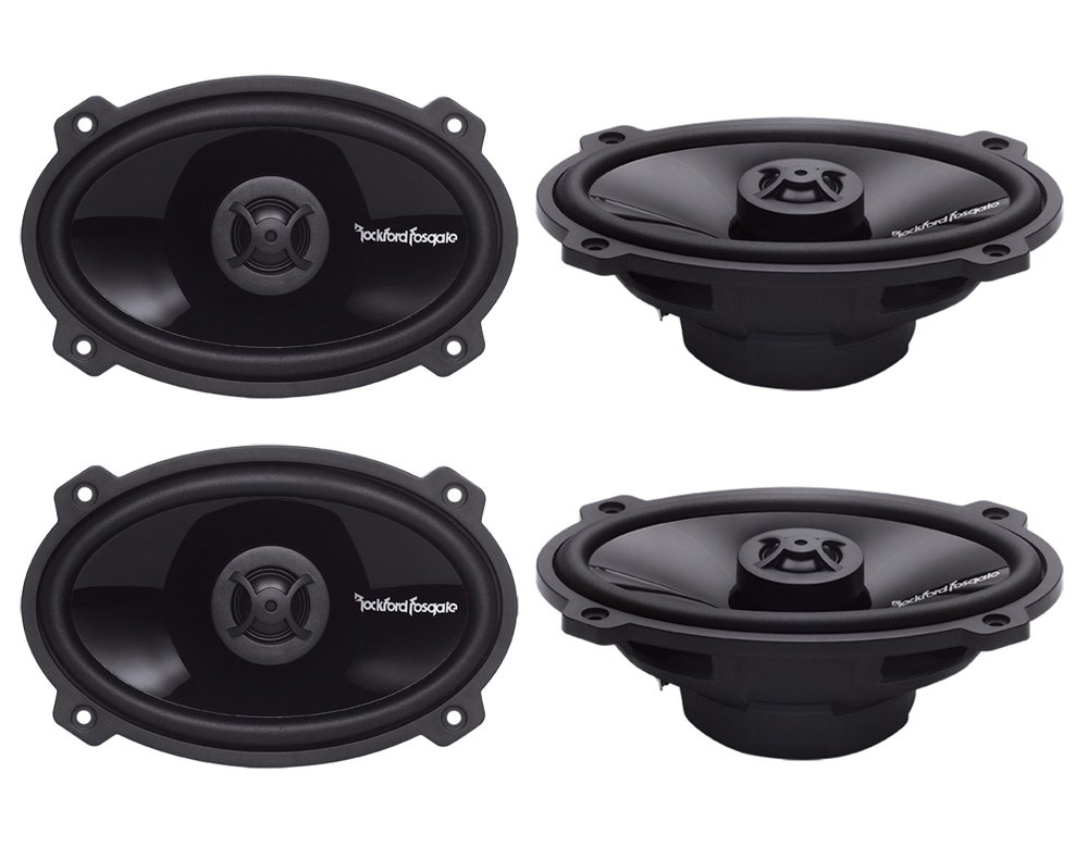 4) ROCKFORD FOSGATE P1462 4x6'' 280W 2-Way Full Range PUNCH Car Audio Speakers