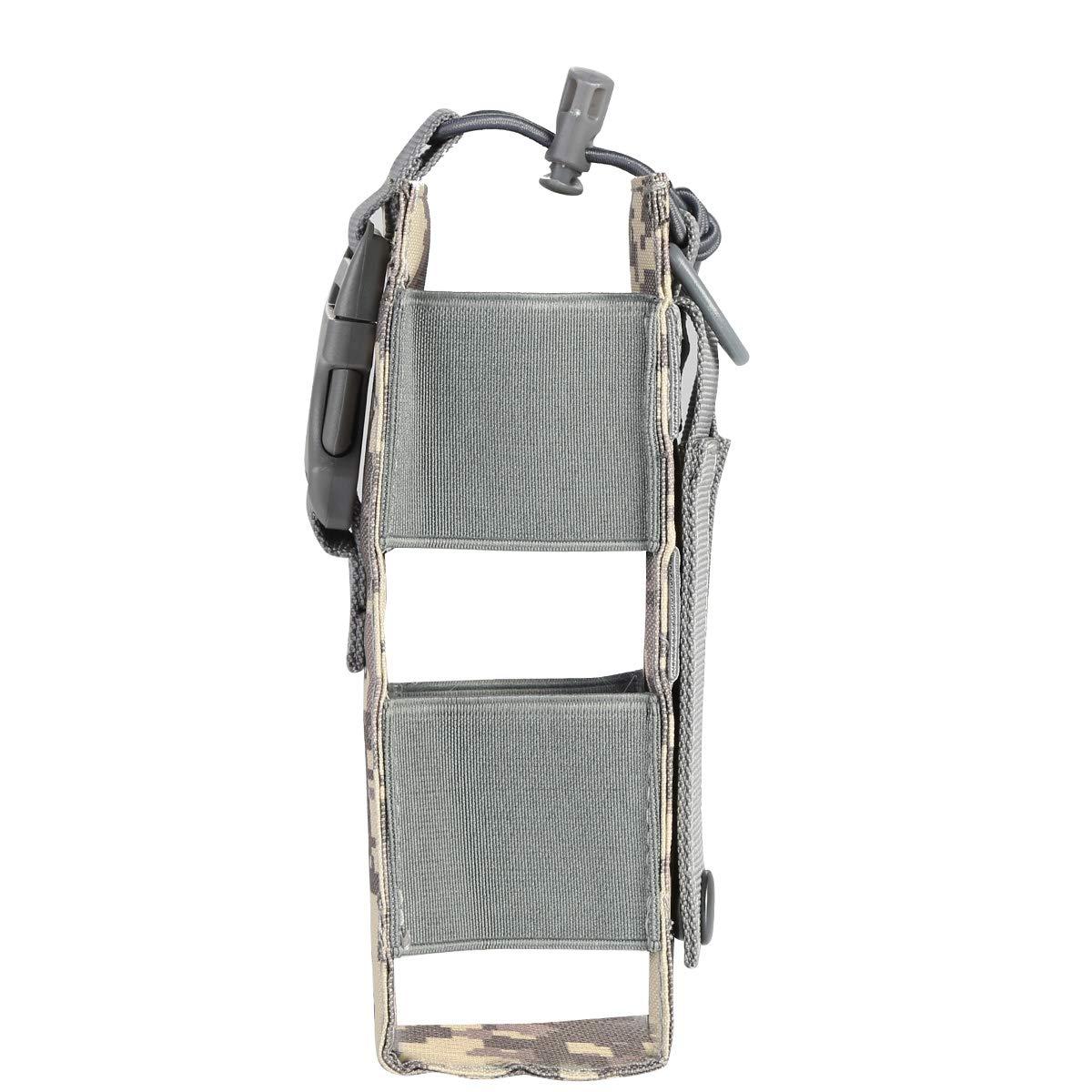 Tactical Holster Pouch Molle Cintur/ón Paquete de la Cintura Bolso Peque/ño Bolsillo Paquete Militar de la Cintura Bolsa de Viaje Bolsos de Viaje para Acampar Jinxuny Walkie Talkie Holder Pocket
