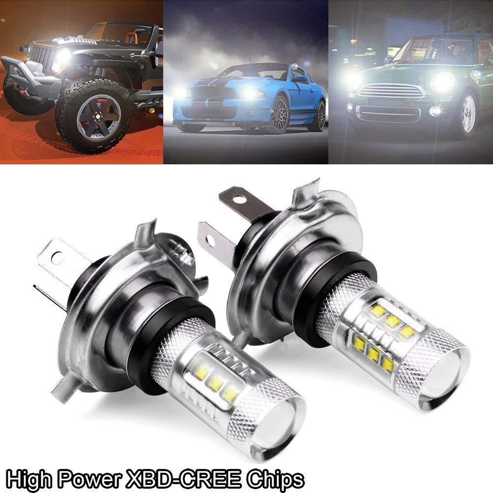 Femitu 2PC x 80W 12V For Xenon White H4 9003 HB2 CREE LED Fog Lamp Bulb Beam Headlight Driving by Femitu 5559045413