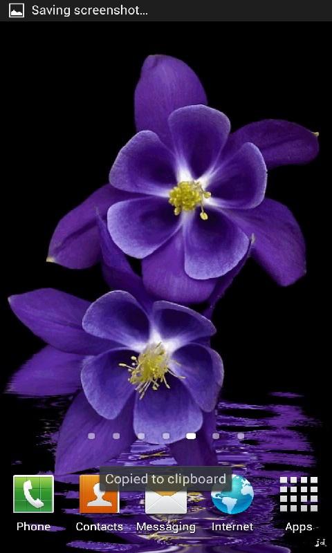 Purple flowers live wallpapers appstore for - Flower wallpaper dp ...