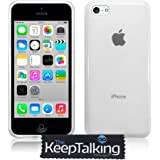 The Keep Talking Shop® Case Silicone Cover Gel and Screen Protector for the iPhone 5C