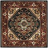 Safavieh Summit Collection SMT293A Dark Grey and Red Area Rug (6'7″ Square) Review
