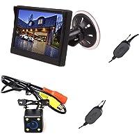 E-Kylin Wireless Car Auto 5 inch HD Monitor LCD TFT + Backup Camera Reverse Parking Kit LED Night Vision CCTV Safety…