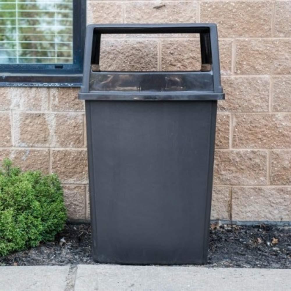 Black Plasticplace 56 Gallon Glutton Trash Bags 43W x 46H 50//Case 43W x 46H B00OY28BCY 2.4 Mil