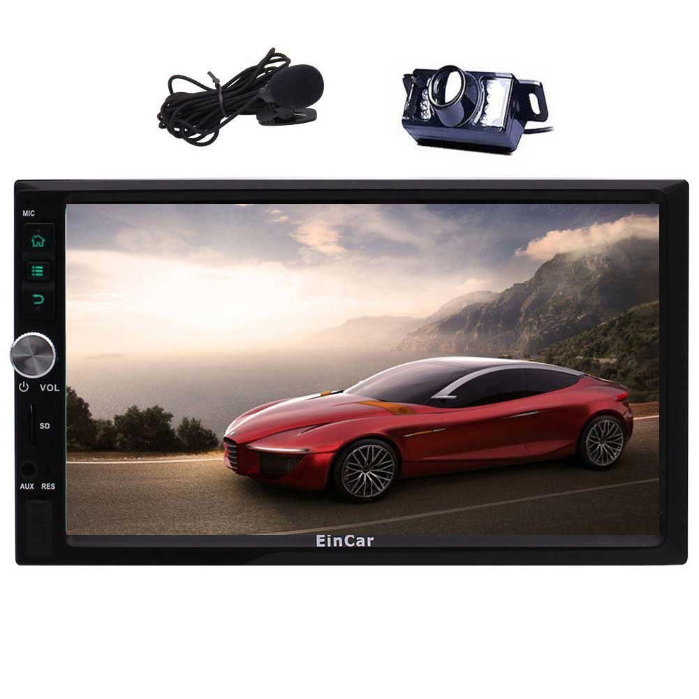 Android 7.1 Car Stereo Double Din 7'' Touch Screen Auto Radio Receiver In Dash GPS Navigation Head unit Support Bluetooth WiFi USB/SD Steering Wheel Control Subwoofer External Microphone + Free Backup Camera YunFa Technology Limited BR.AN8033GNN1+Fcam-b