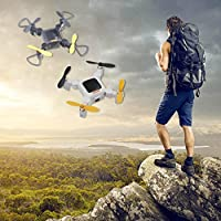Inverlee Foldable HC636W Altitude Hold 0.3MP HD Camera WIFI FPV RC Quadcopter Drone (Black)