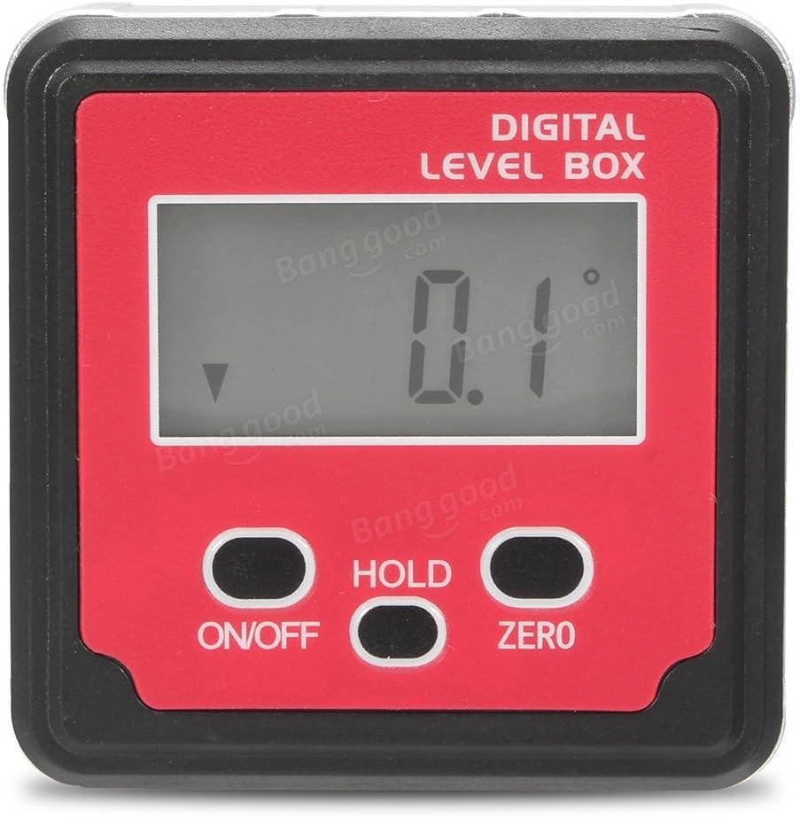 Digital Bevel Box Inclinometer Spirit Level Protractor Angle Finder Gauge Meter