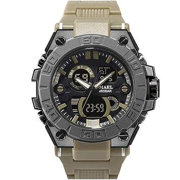 SMAEL Relojes Deportivos Relojes Impermeables para Hombres Relojes De Pulsera De Cuarzo Military LED Watch Shock 8003,F: Amazon.es: Deportes y aire libre