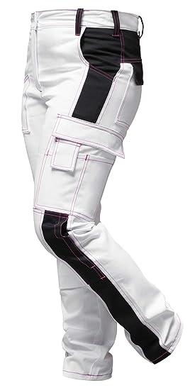 Travail 100 Femme Strongant BlancPeintre Pantalon De F13JcTlK