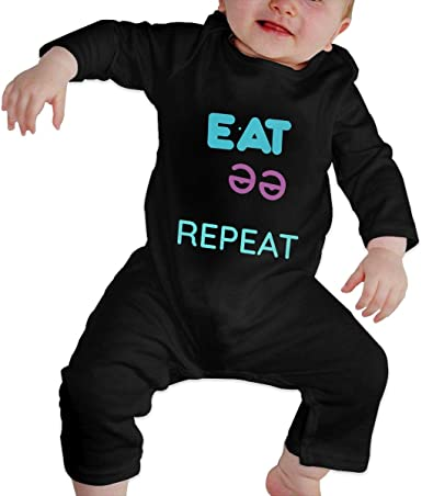 Eat Sleep Rave Repeat Baby Climbing Clothing Baby Long Sleeve Garment Unisex Design Looks Great On Newborn 6-24 Months