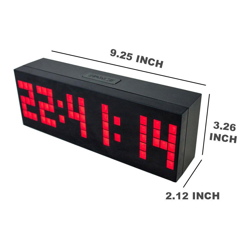 Amazon chihai digital led clock wall alarm digital calendar amazon chihai digital led clock wall alarm digital calendar clock count down timerred office products amipublicfo Choice Image