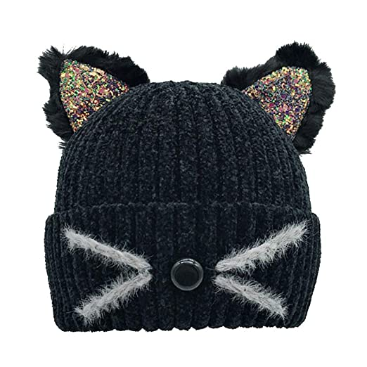 937fa018cb6 Amazon.com  Gyrategirl Baby Winter Hat Caps Cute Toddler Boys Girls Cartoon Bear  Caps Kids Headwrap Ear Warmer  Clothing