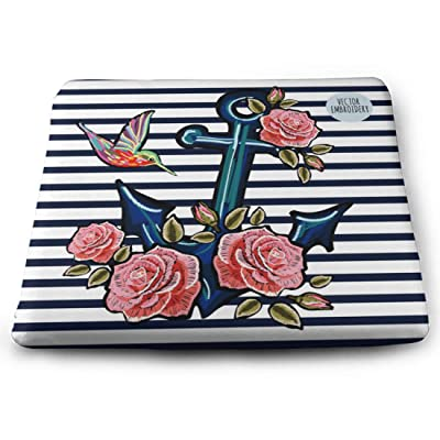 Tinmun Square Cushion, Beautiful Pattern Anchor Hummingbird Roses Large Pouf Floor Pillow Cushion for Home Decor Garden Party: Home & Kitchen