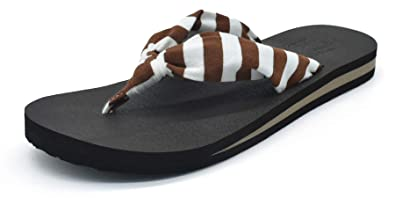 c018f7998286a KuaiLu Women s Summer Flip Flops Yoga Mat Slim Sandals Pool Beach shoes (US  B(
