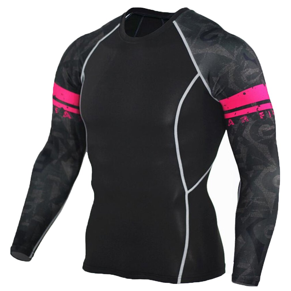 NATURET Men's Baselayer Athletic Compression Long Sleeve Sports Shirt NT sged-122