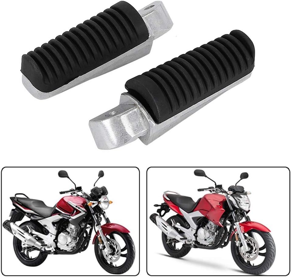 Nikou Reposapi/és Traseros para Motocicleta 2 Pedales de Aluminio Resistentes a la corrosi/ón compatibles con Ya-maha BT1100 Bulldog 2002-2006