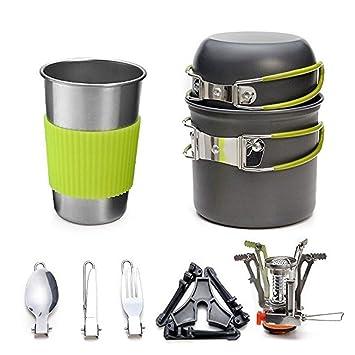 Estufa de gas al aire libre Juego de utensilios de cocina al aire libre 1-2 ...