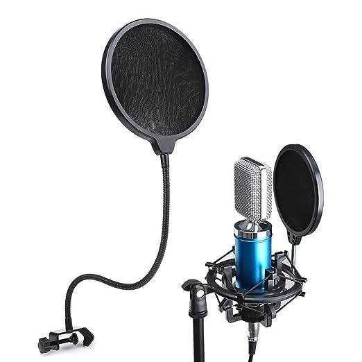 19 opinioni per Microfono Filtro, Crenova Filtro microfono a doppio strato registrazione Studio