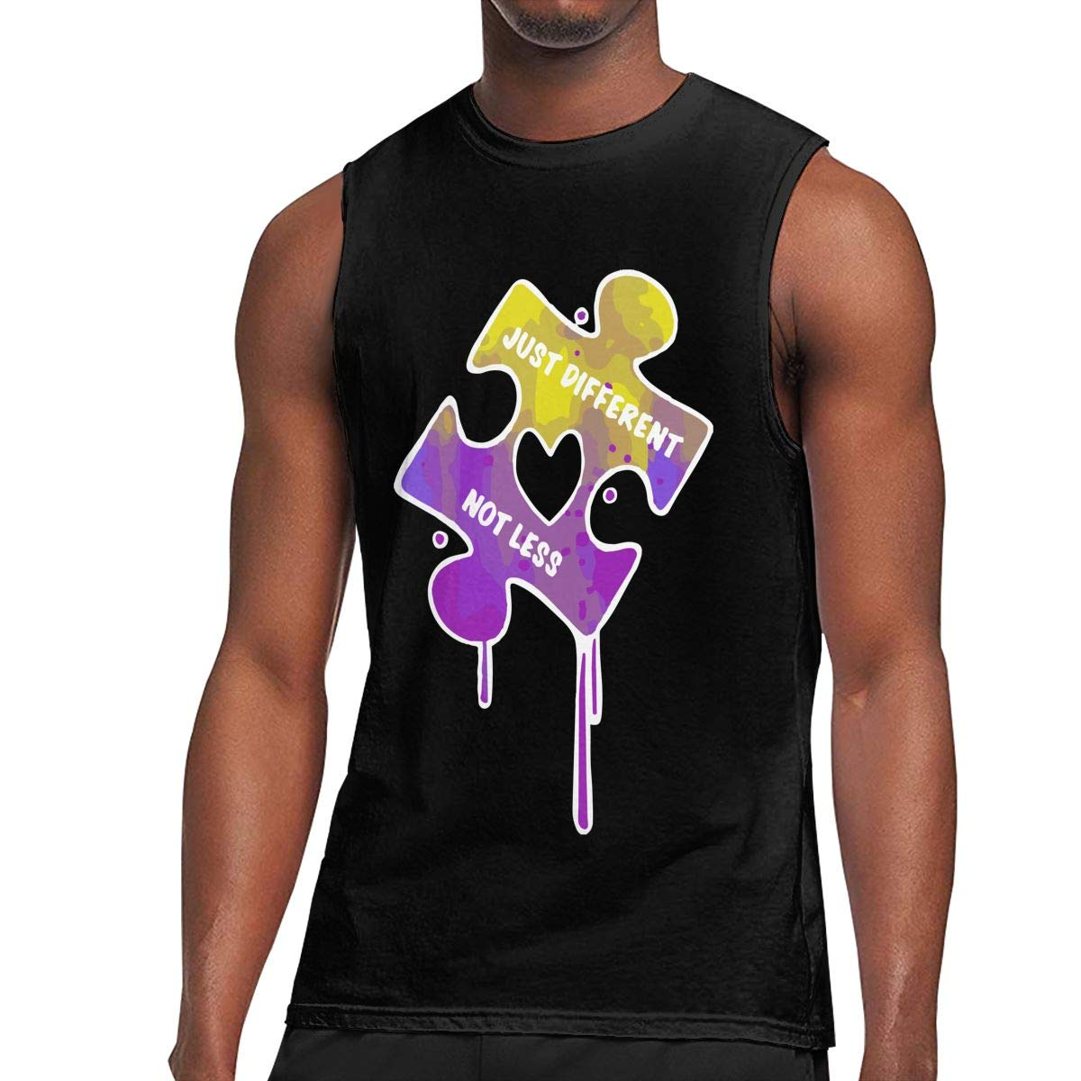 BFBG5f-Tee Mens Autism Awareness Gym Sport Jersey Tank Tees