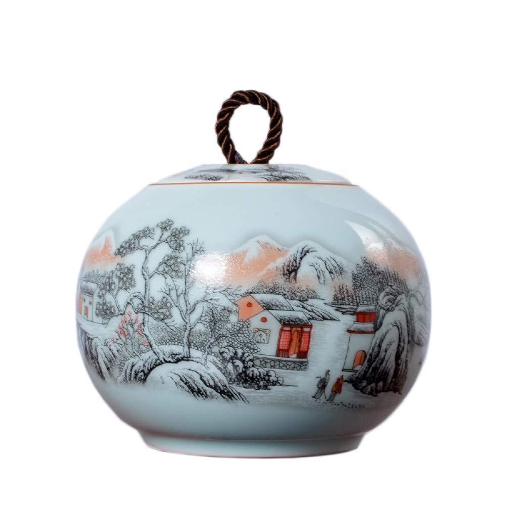 Ceramic Tea Caddy Celadon Tea Cans Sealed Food Spice Canister Seasoning Storage Jar Kung Fu Tea Set Accessories