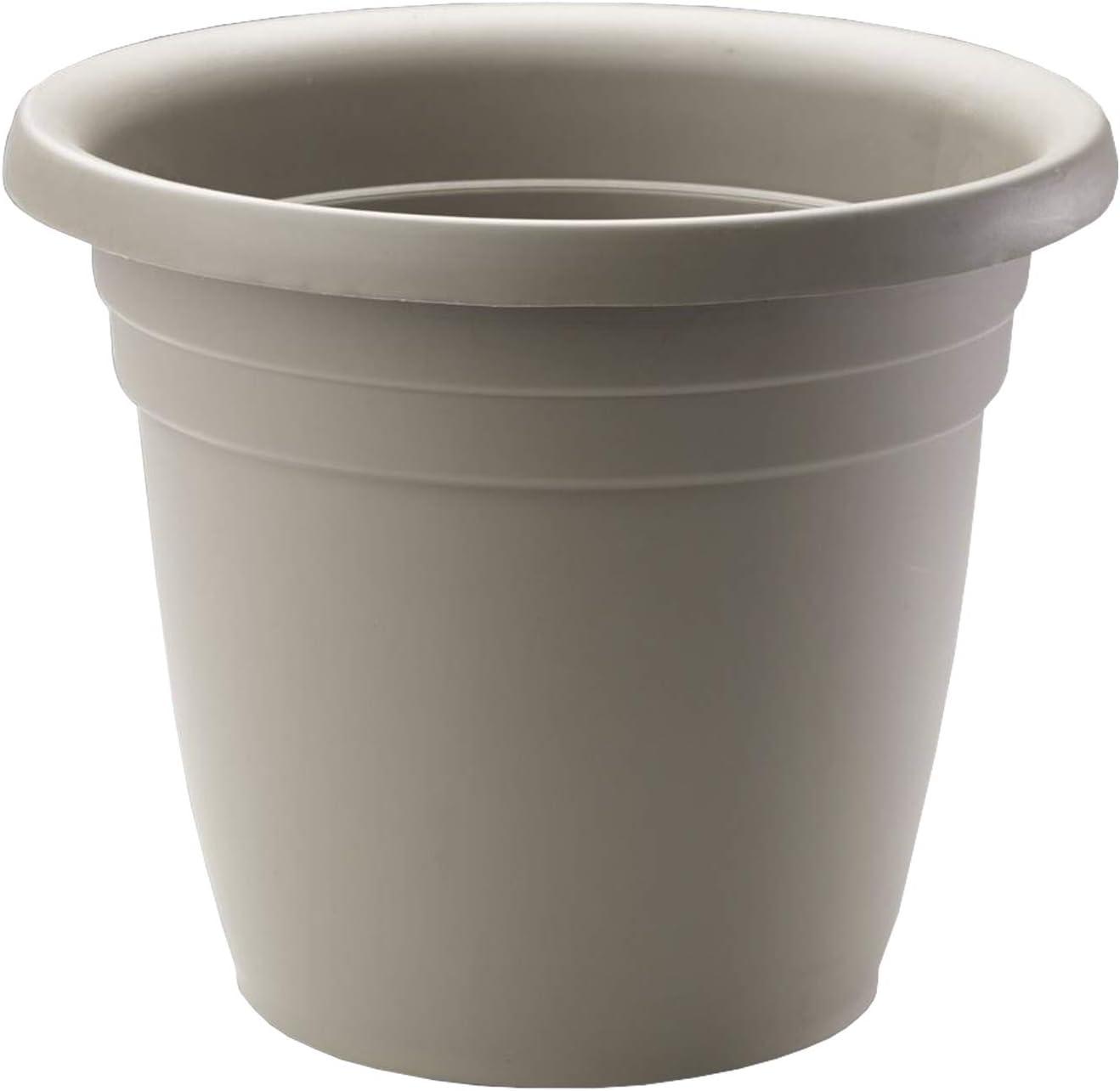 Crescent Too Emma Plant Pot, 8-Inch Cappuccino (Bag of 12)