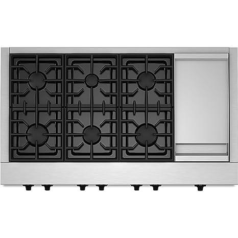 Kitchenaid KGCU483VSS Commercial Style Gas Cooktop