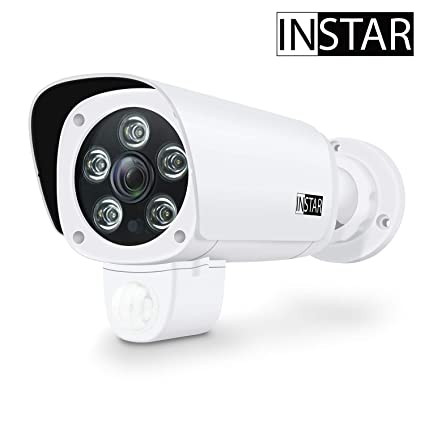 INSTAR IN-9008 Full HD White - IP Camera - Security Camera - Home Security System - Camera Outdoor - CCTV - CCTV Camera - LAN - WiFi - Night Vision - ...
