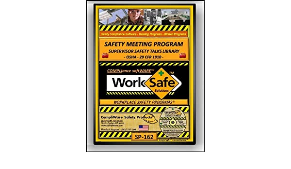 amazon com sp 162 supervisor s safety meetings resource library