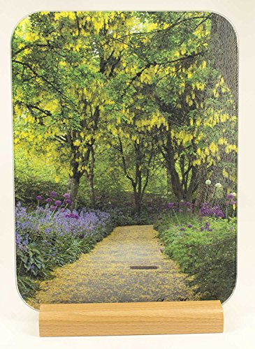 Laburnum Walk - Van Dusen Botanical Gardens Vancouver BC Tempered Glass Cutting Board with wood stand - Glasses Vancouver