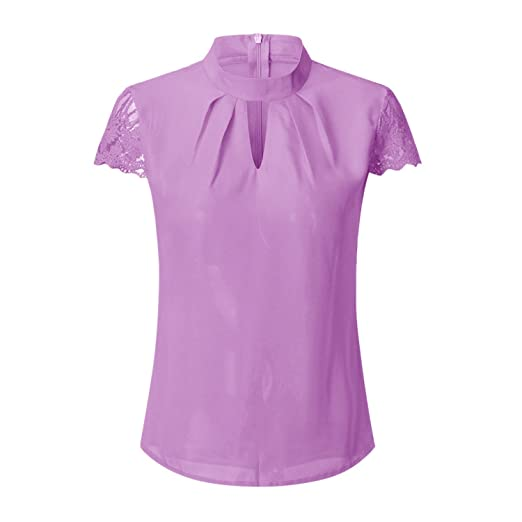 Frozac Women Sexy Blouses Summer Casual Hollow Short Sleeve ...