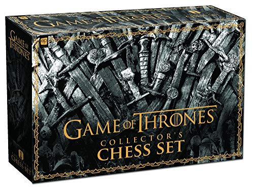 USAOPOLY Game of Thrones Collector's Chess Set | Collectible 32 Custom Sculpt Chess Pieces HBO Game of Thrones TV Characters (Chess Game Pieces)