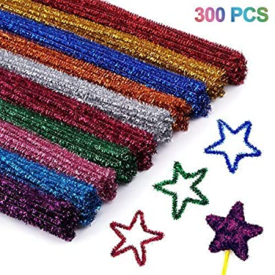 Cuttte 300pcs 10 Colors Pipe Cleaners, DIY Art Craft Decorations Chenille Stems, Assorted Colors, (6 mm x 12 inch): Home & Kitchen