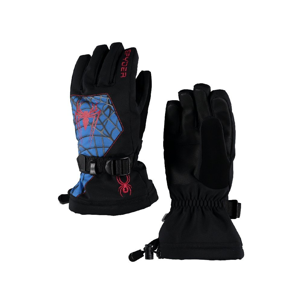 Spyder Boy's Marvel Overweb Ski Glove, Black/Ironman, Small