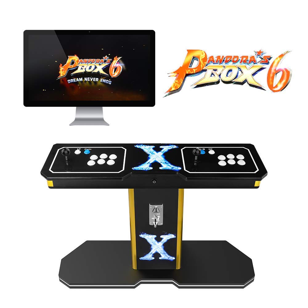 TAPDRA 3A Original Pandora's Box 6 Vintage Retro Arcade Cabinet Machine with 1300 Games 2 Players Joystick HDMI and VGA 1280x720P HD Full Size Wooden Console (with Coin Function)