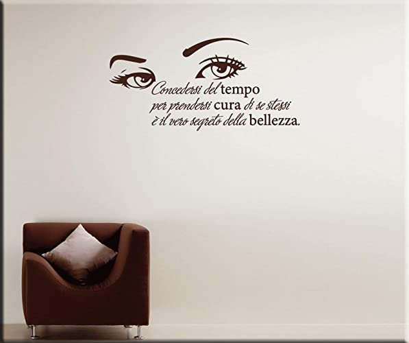 Adesivi Murali Frasi Bellezza Wall Stickers Citazione Donna