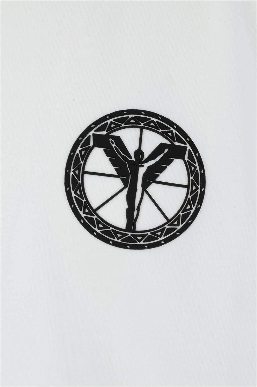 Carlo Colucci Basic Logo Crew Neck T-Shirt Black White