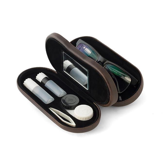 Balvi - Estuche para Gafas y lentillas lHédoniste con Espejo Incorporado. Incluye Recipiente para lentillas, Dos frascos para líquidos y Pinzas.