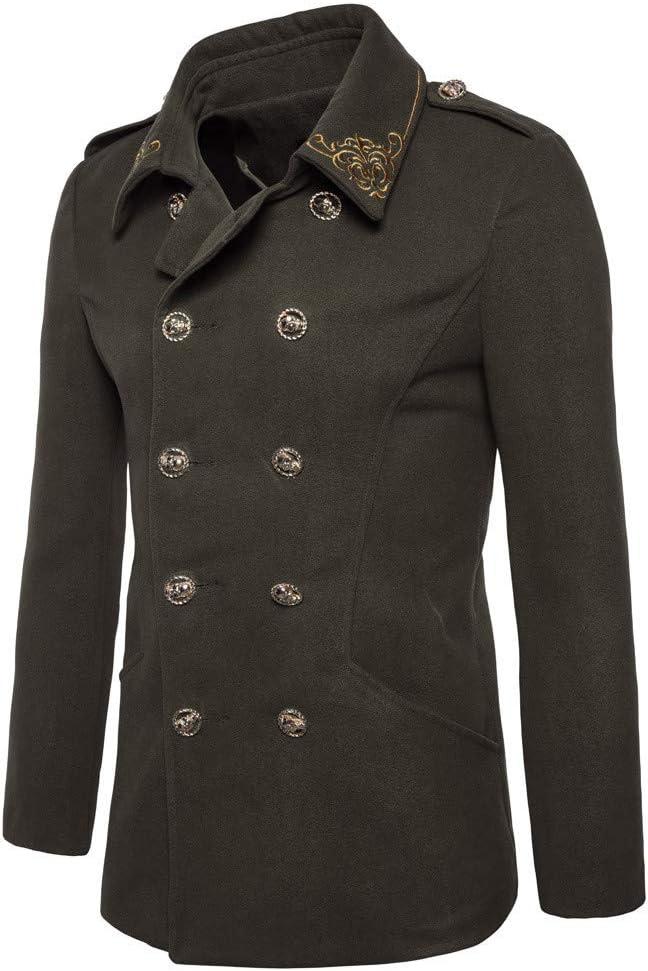 Stylish Winter Mens Hooded Jacket Solid Buckles Pocket Coat Outwear by Balakie
