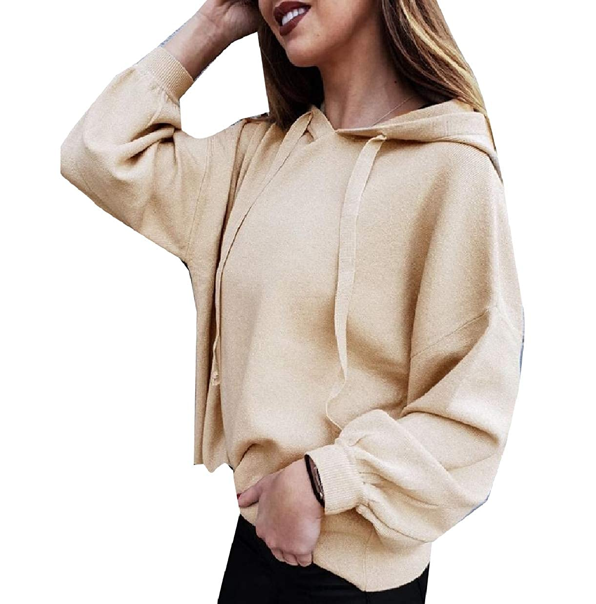XiaoShop Womens Relaxed Leisure Unisex Classic Hoode Pullover Sweatshirt