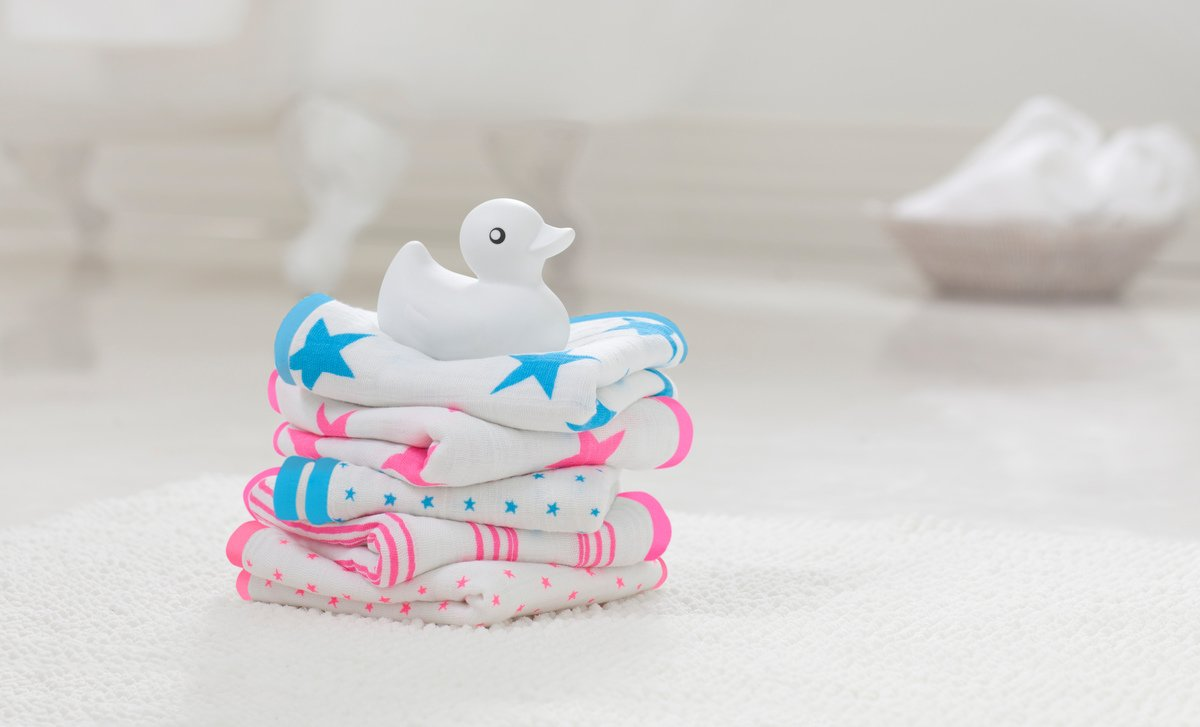 anais 3052G Classic Washcloth Set aden fluro pink